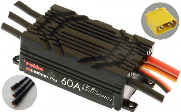 RO-CONTROL PRO WIFI 2-6S 60A HV-BEC XT-60 / 3,5mm Goldkontaktbuchsen