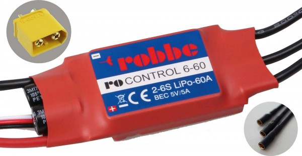 RO-CONTROL 6-60 2-6S -60(80)A 5V/5A SWITCH BEC