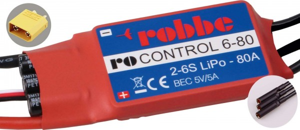 RO-CONTROL 6-80 2-6S -80(100A) 5V/5A SWITCH BEC