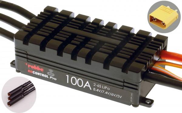 RO-CONTROL PRO WIFI 2-6S 100A HV-BEC XT-90 / 5mm Goldkontaktbuchse
