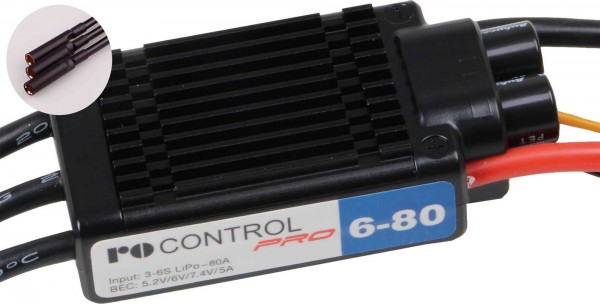 RO-CONTROL PRO 6-80 3-6S -80(100)A 5,2-7,4V/5A SWITCH BEC